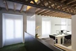 Gran jácena central del estudio e2b arquitectos.